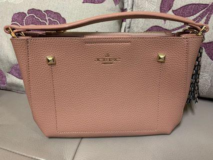 粉色真皮包
