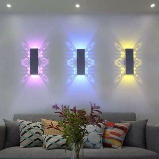 🌇現代酒店ktv壁燈 包房七彩變光創意卧室床頭燈 尺寸20*6*6公分 適合居家廊道