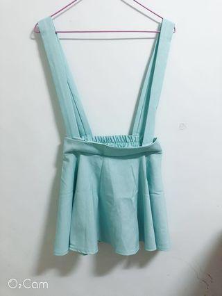 馬卡龍綠-吊帶裙