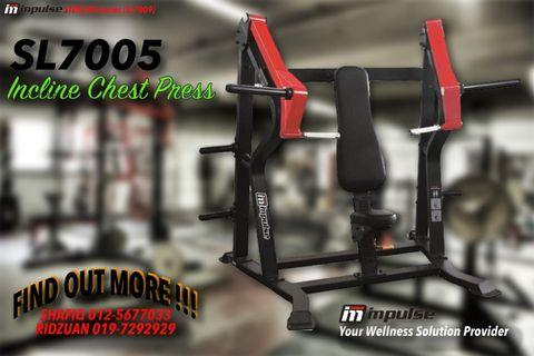 Gym Equipment - IMPULSE SL7005 Incline Chest Press