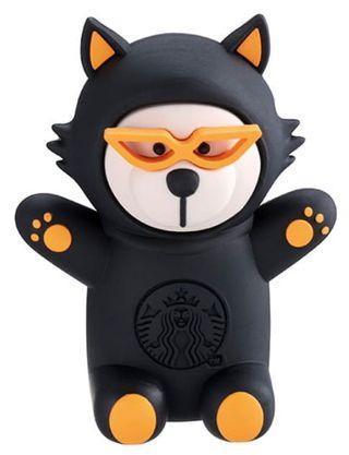 [星巴克]黑貓造型小熊磁鐵