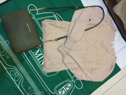 日本專櫃組曲藕粉羊毛衣