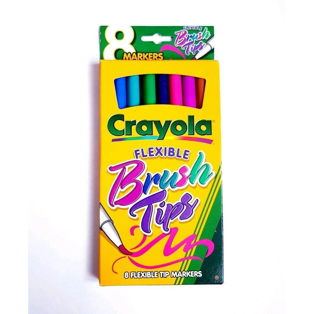 8 Pack Crayola Brush Tip Markers - perfect for calligraphy