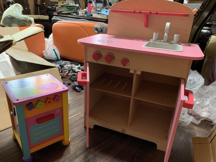 小朋友木頭廚具組—烤箱、爐台