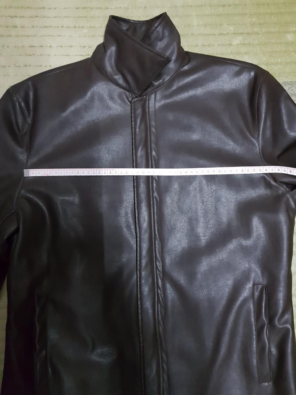 (可換物)風衣型 小羊皮外套 穿上很好看很帥
