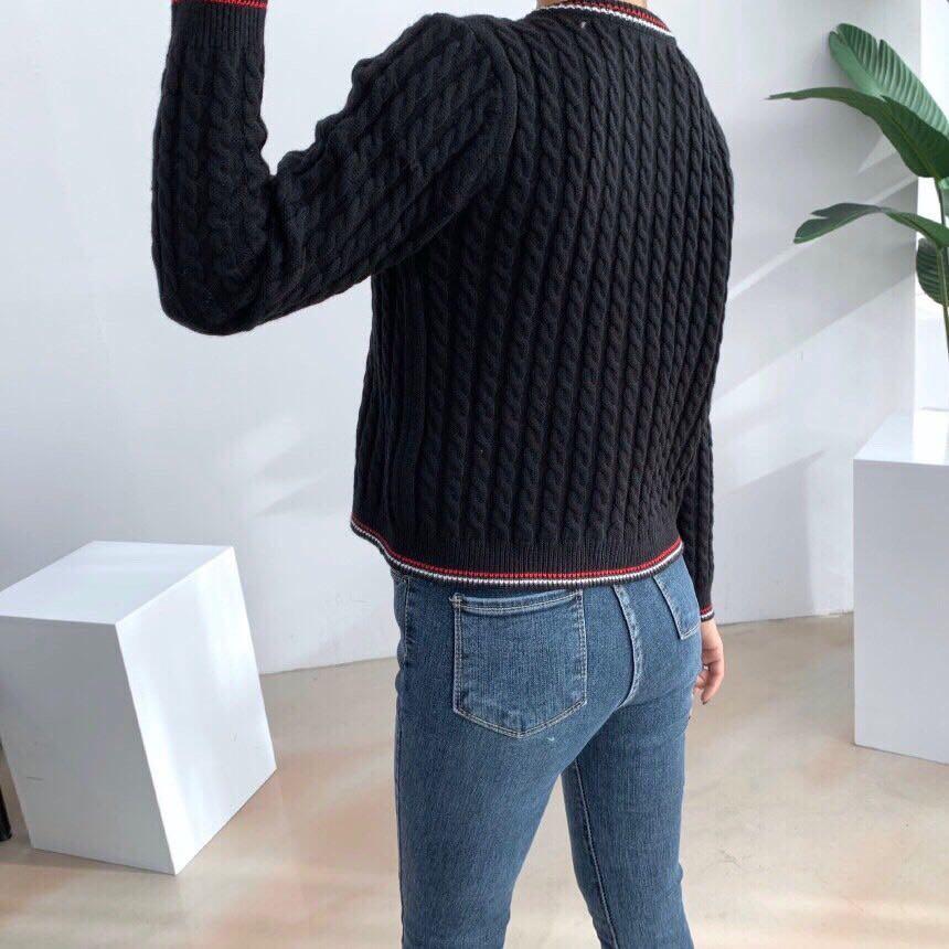 #正韓復古鈕扣針織外套