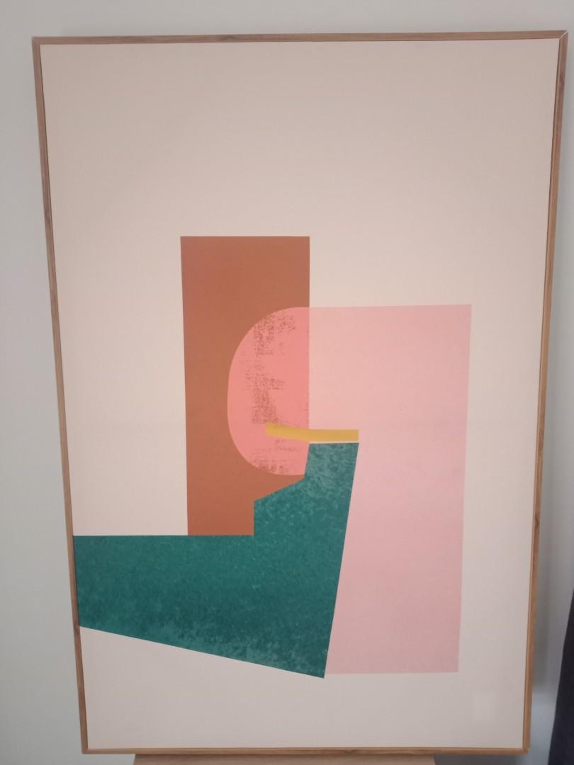 Adairs Timber Framed Abstract Art Artwork