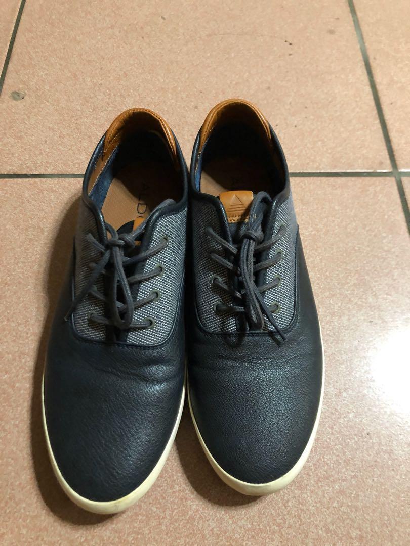 ALDO 男士休閒鞋 質感 皮革 正式 黑色