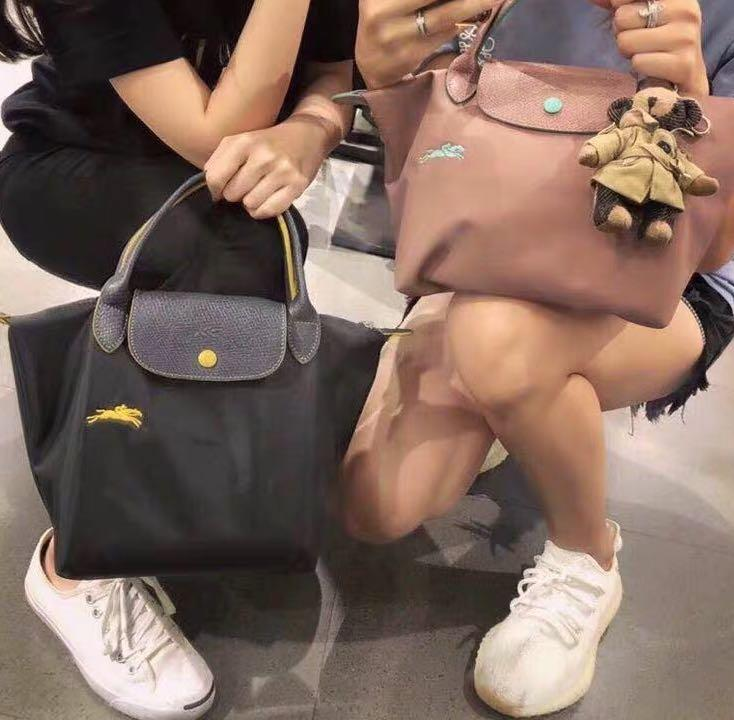 💯%Authentic Longchamp Le Pliage Club Small Short Handle Tote Bag
