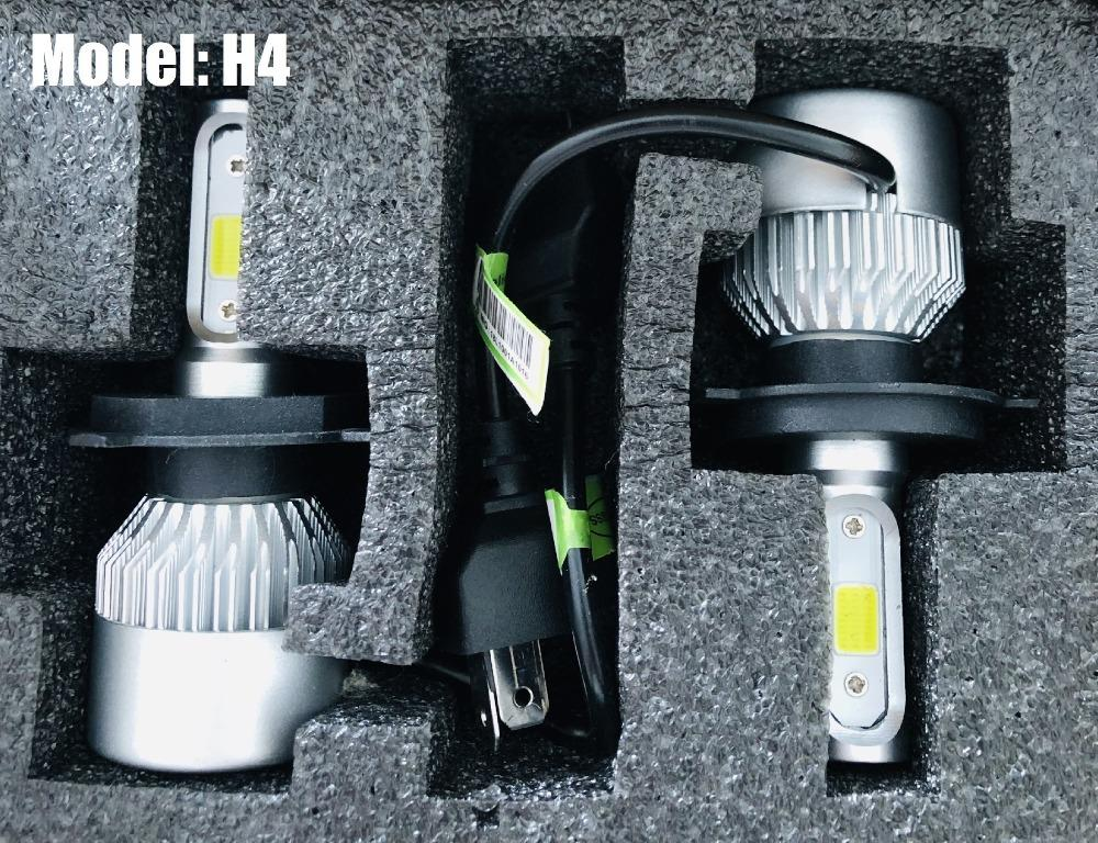 AWESOME DEAL!! H4 Car LED COB Headlights Headlamps 36W 6000LM 6000K White