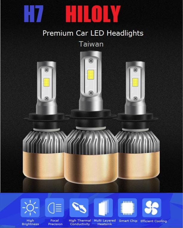 AWESOME DEAL!! H7 Car LED COB Headlights Headlamps 36W 6000LM 6000K White