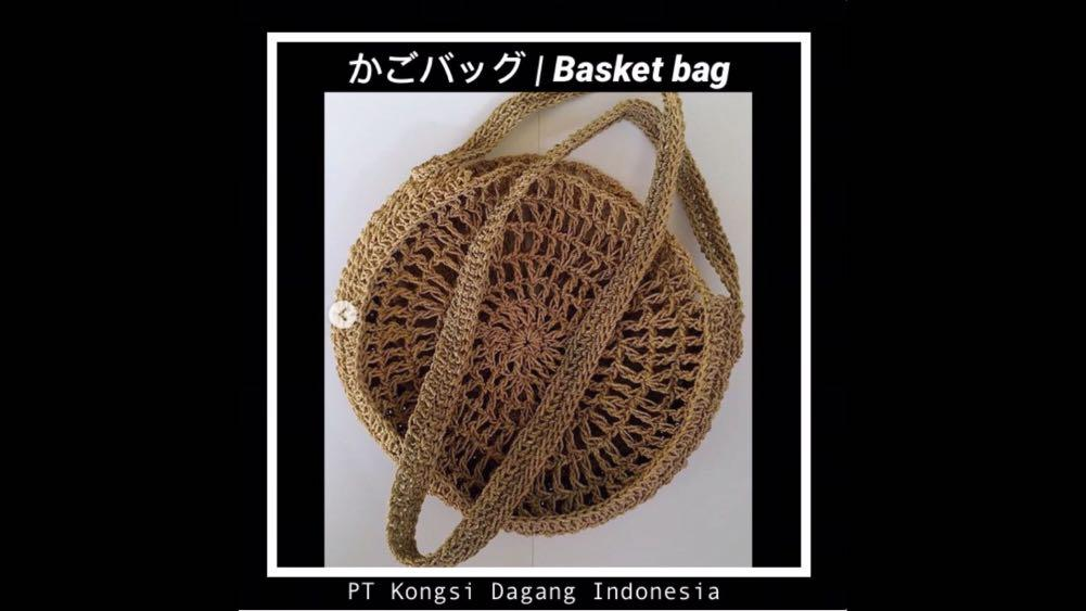 BASKET BAG かごバッグ – CIRCLE 002 (Size L ) - by PT Kongsi Dagang Indonesia