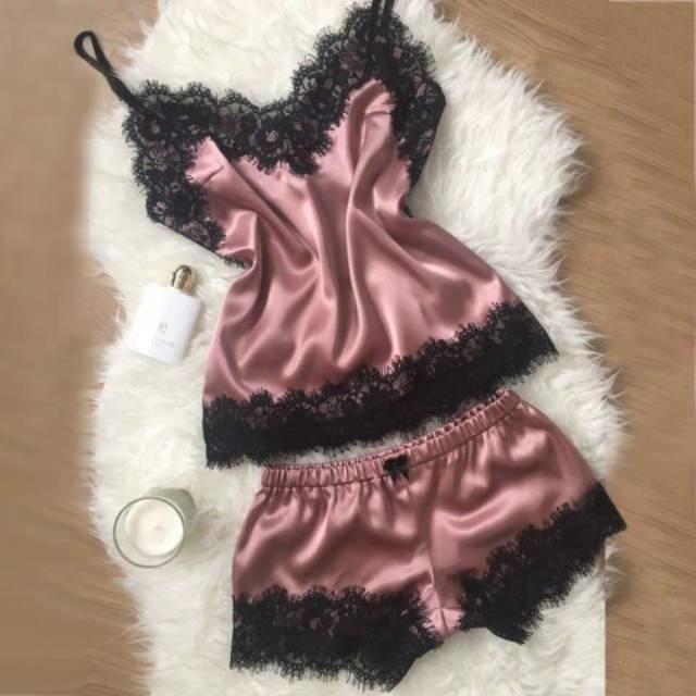 Beatrix Lace Pajamas Set