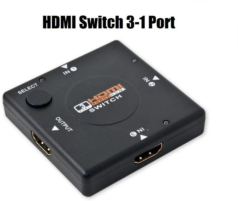 BEST DEAL!! 3 Port HDMI 1080P Switch Switcher Splitter Hub