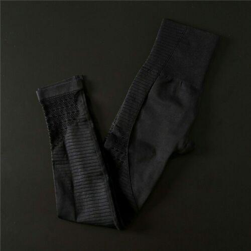 BNWOT Seamless Knit Gym Set Performance Compression 8-10 Black (Gymshark Alike)