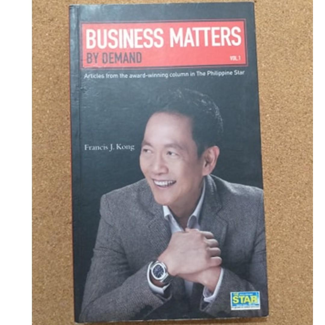 Business Matters by Demand (Francis Kong) /  Personal Development and Self Help Book