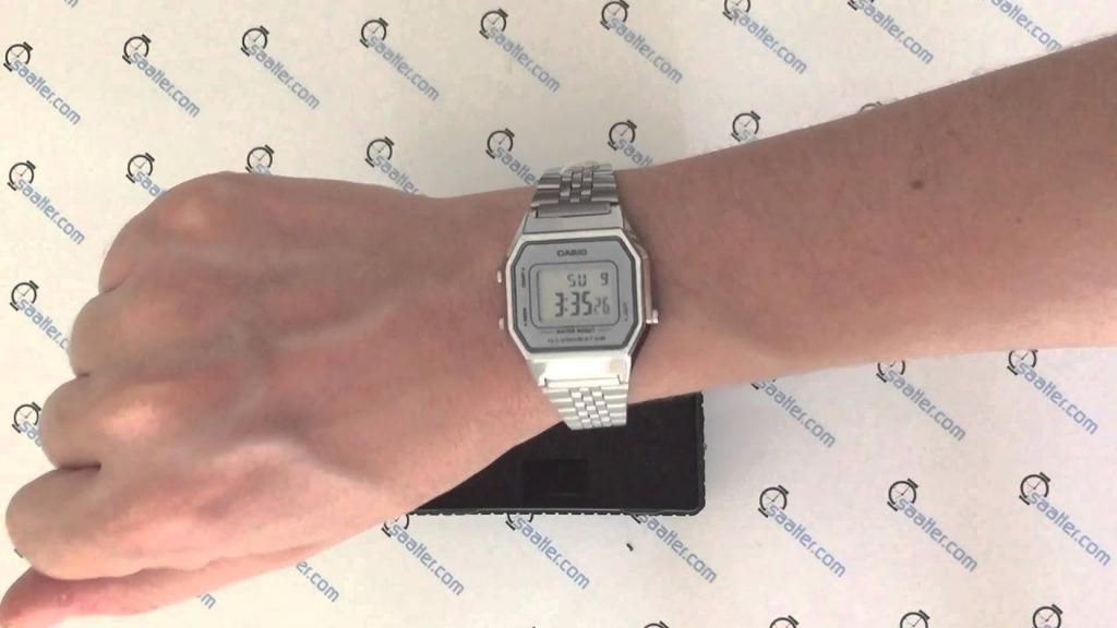 Casio VINTAGE LA680WA-7A Unisex Digital YOUTH Design Classic Silver Stainless Steel Strap Original Watch LA680WA
