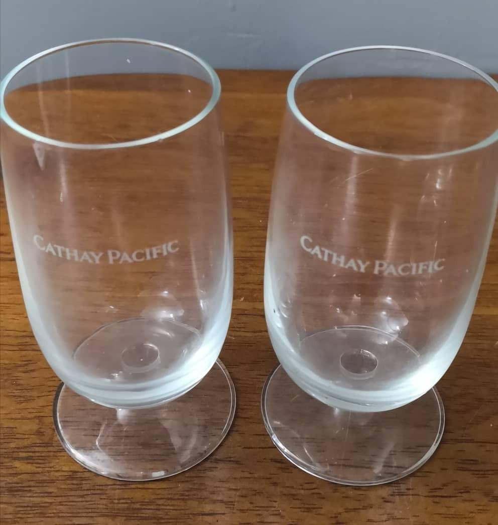 Cathay Pacific crystal glass