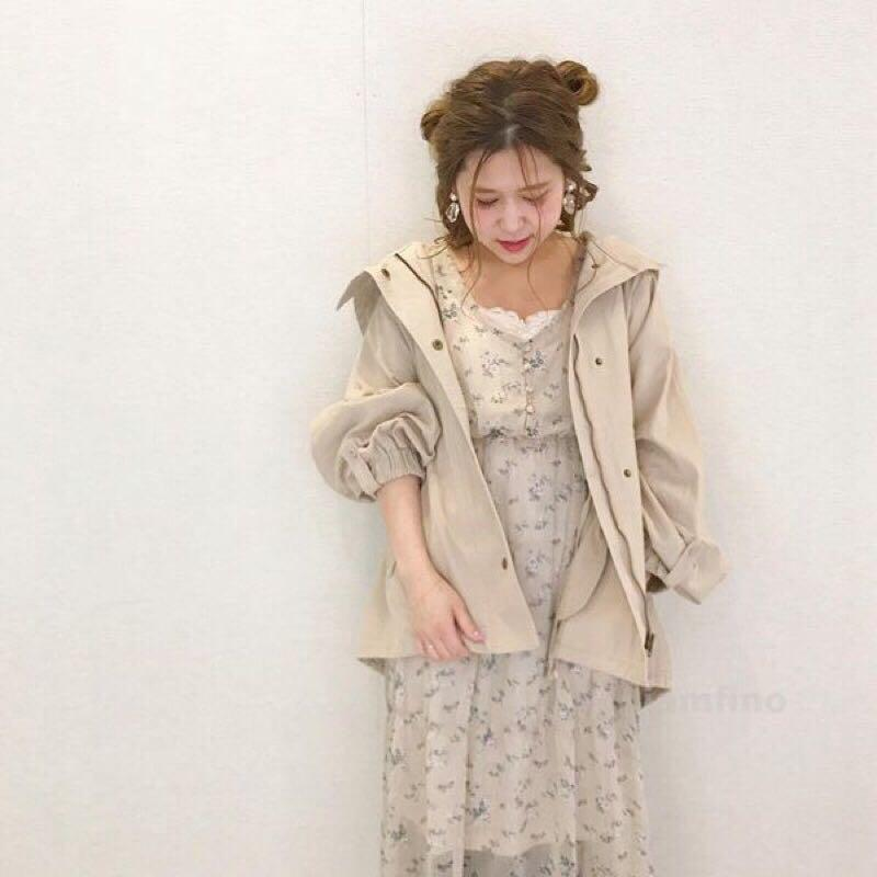CHICO 訂製款 復古碎花長袖洋裝