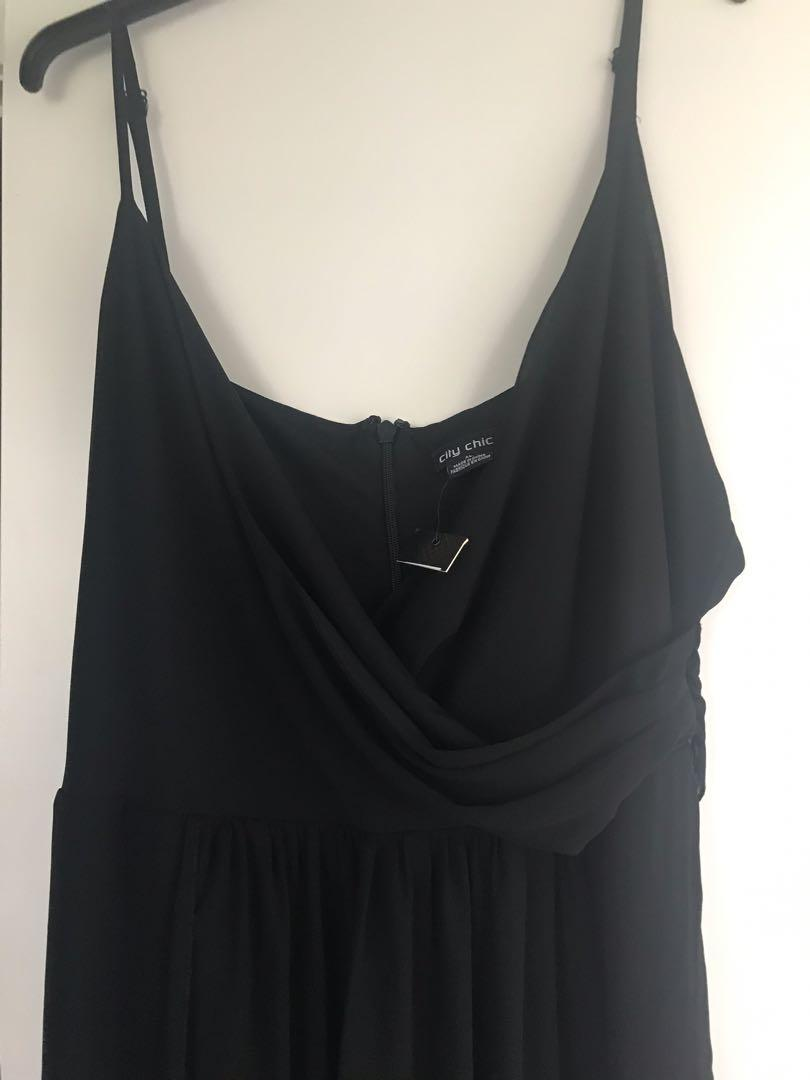 City Chic (2 in 1) Dress Jumpsuit BRAND NEW/ Size XL/22