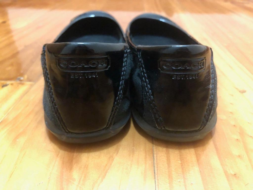 Coach Designer Black Ballet Flats Size 7.5 / 38 - Authentic! VGC