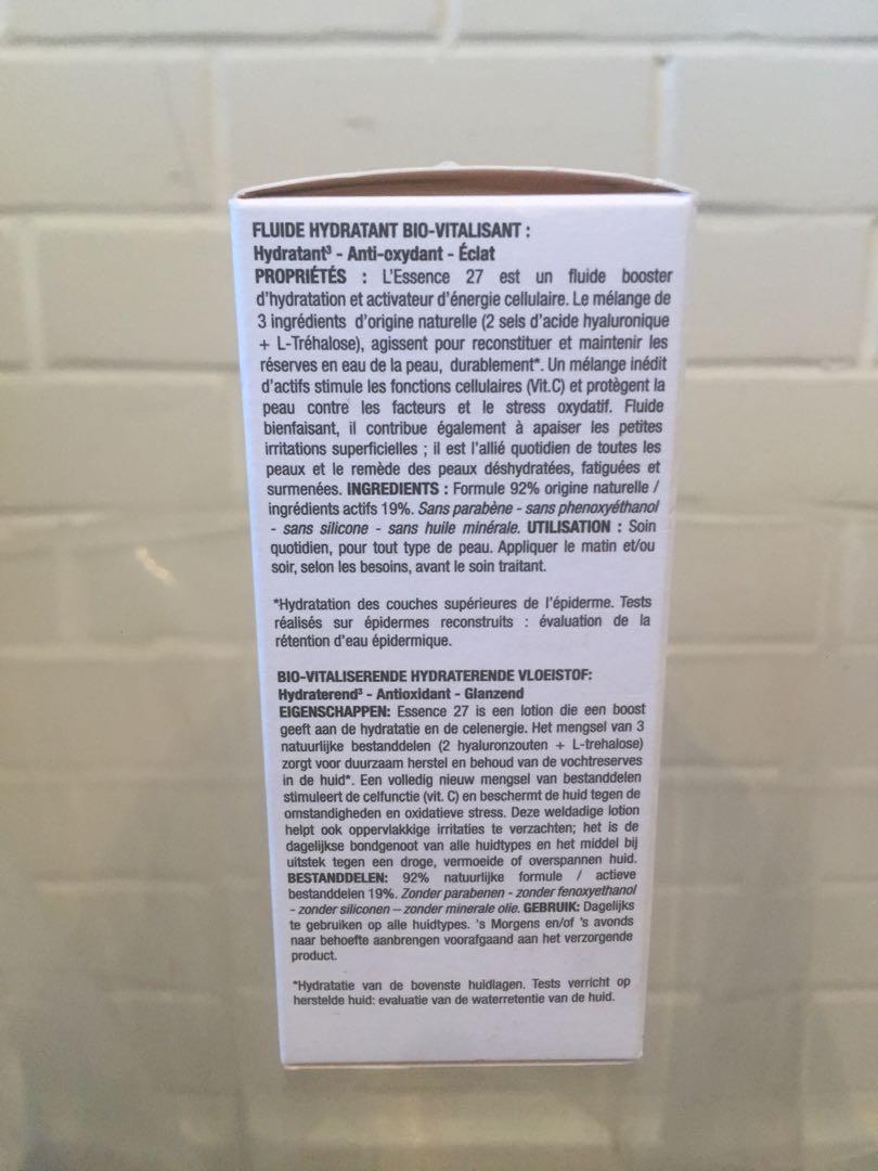 "Cosmetics 27 Paris hydrating anti oxidant brightening ""essence"" fluid 50ml new authentic"