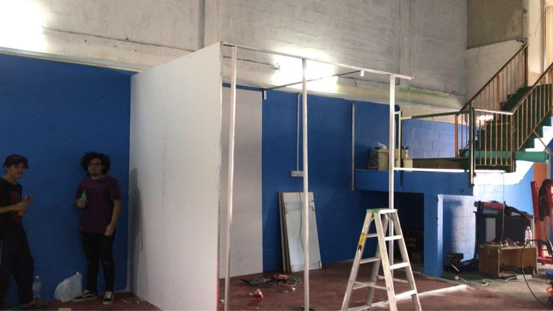 Drywall Gypsum Board Install Services Pasang Partition
