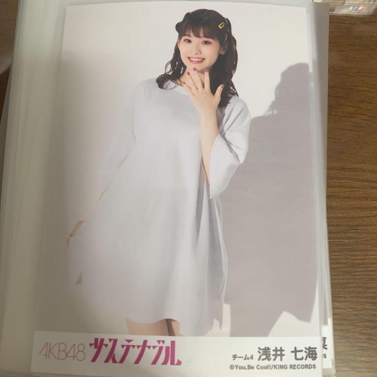 [E]Photo AKB48 浅井七海 Asai Nanami 56th single 「サステナブル / Sustainable」青春ダ・カーポ 選抜 Theater Photo生写真 PRODUCE48 PRODUCE 48