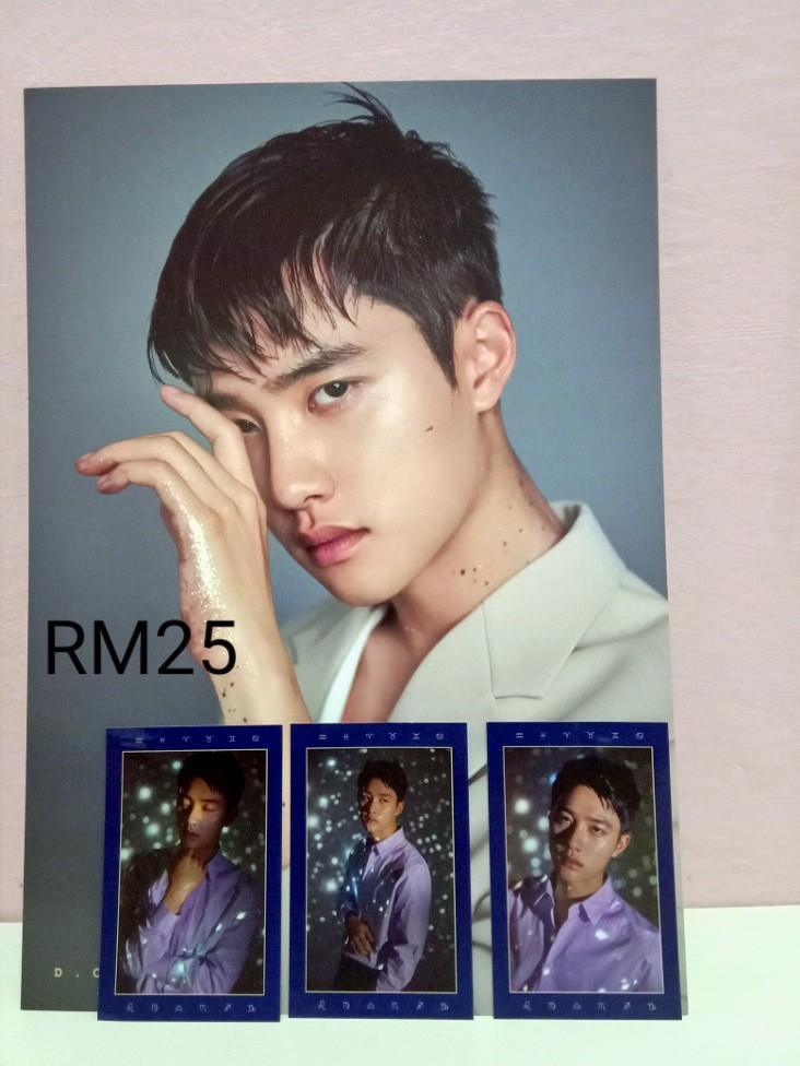 EXO SEASON GREETING 2019 D.O. PC AND A4 POSTER