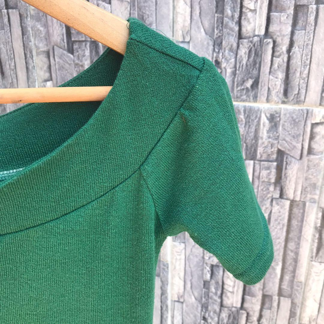 Forest Green Off Shoulder Bodycon Dress
