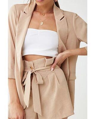 Forever21 Taupe Paperbag Shorts