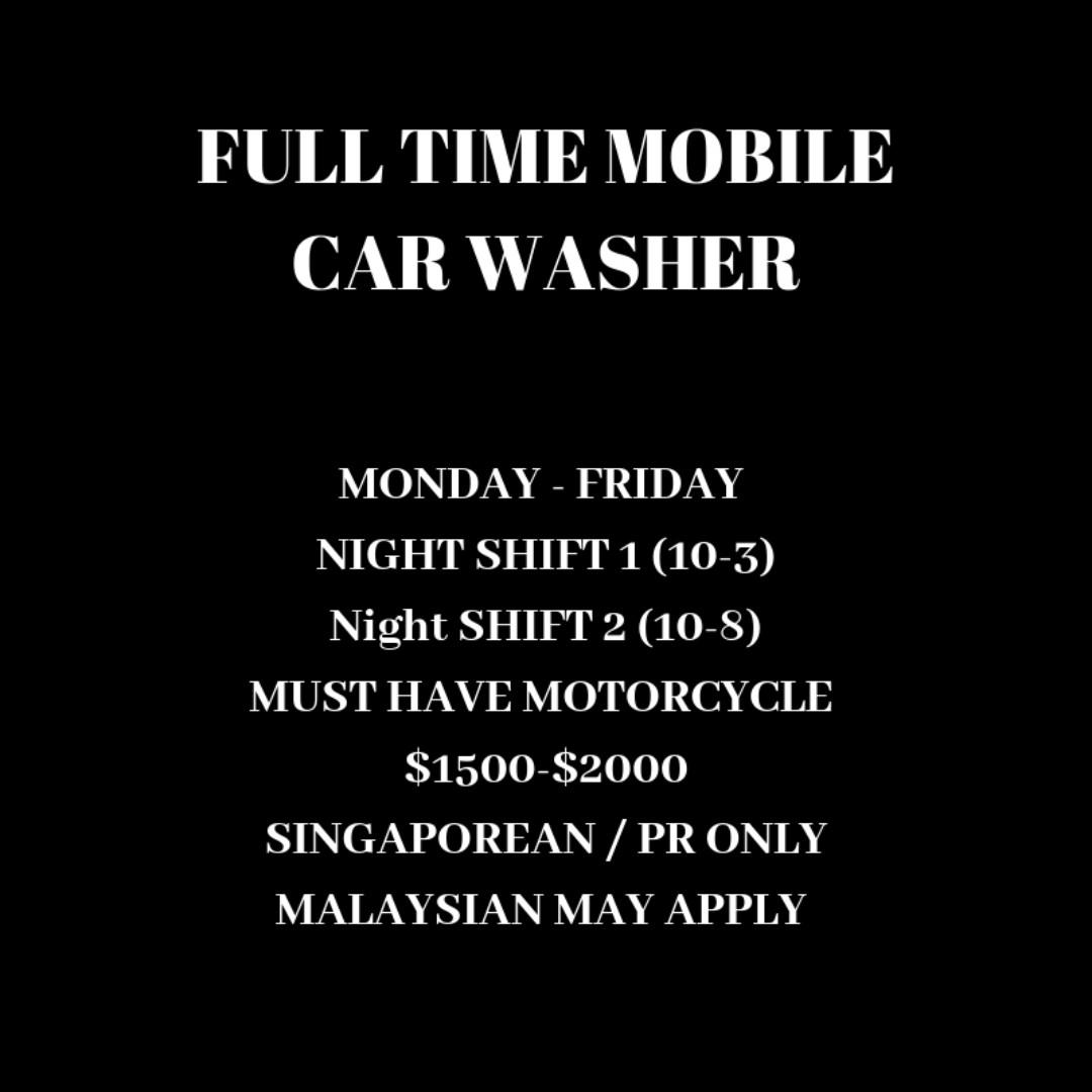 FULL TIME MOBILE CAR WASHER