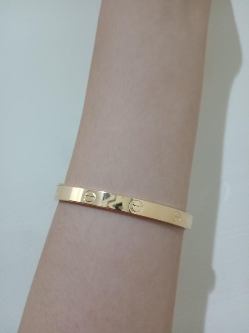 Gelang Cartier emas asli 375