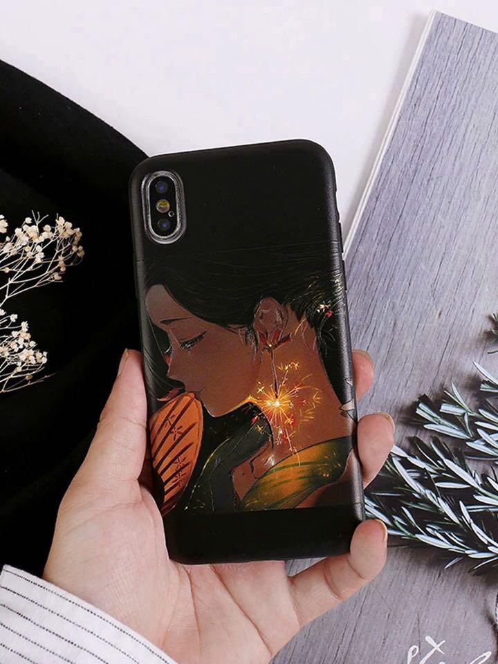 《預購》蘋果手機-日系和服少女煙花HANABI 浮雕手機殼-iphone11上市囉