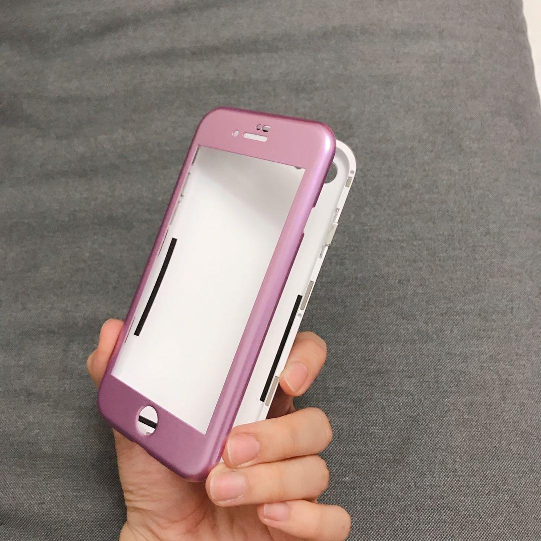 i7/i8 萬磁王全包覆手機殼📱紫色