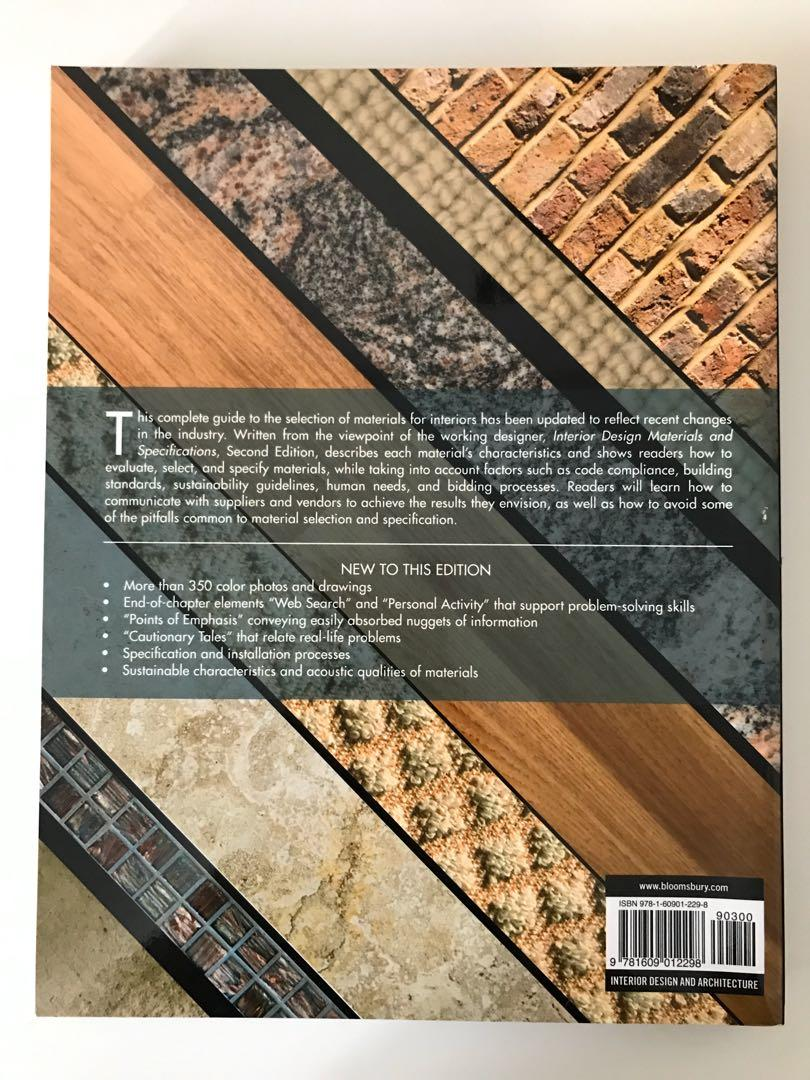 Interior Design Materials and Specifications (2nd edition) - Lisa Godsey