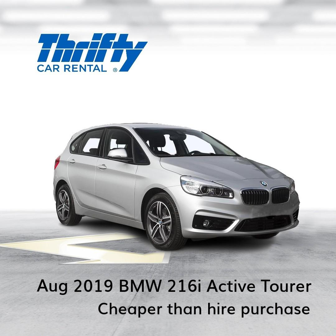 Lease-to-own a BMW 216i Active Tourer at only $54.25 daily