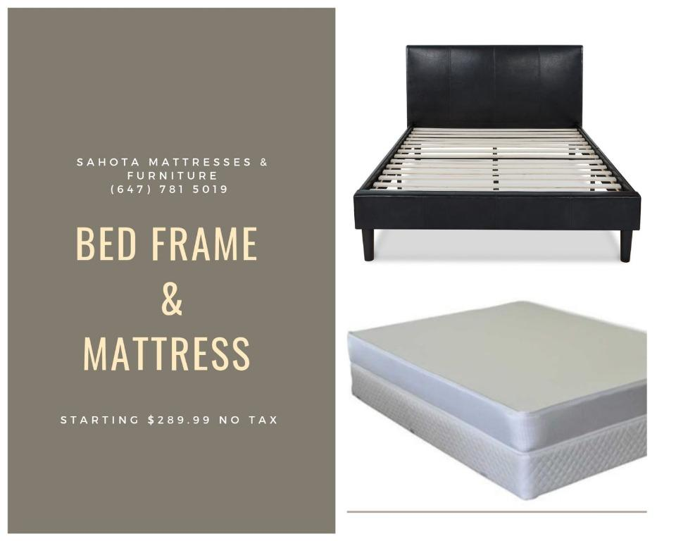 LEATHER BED FRAME AND MATTRESS BUNDLES ON SALE NOW