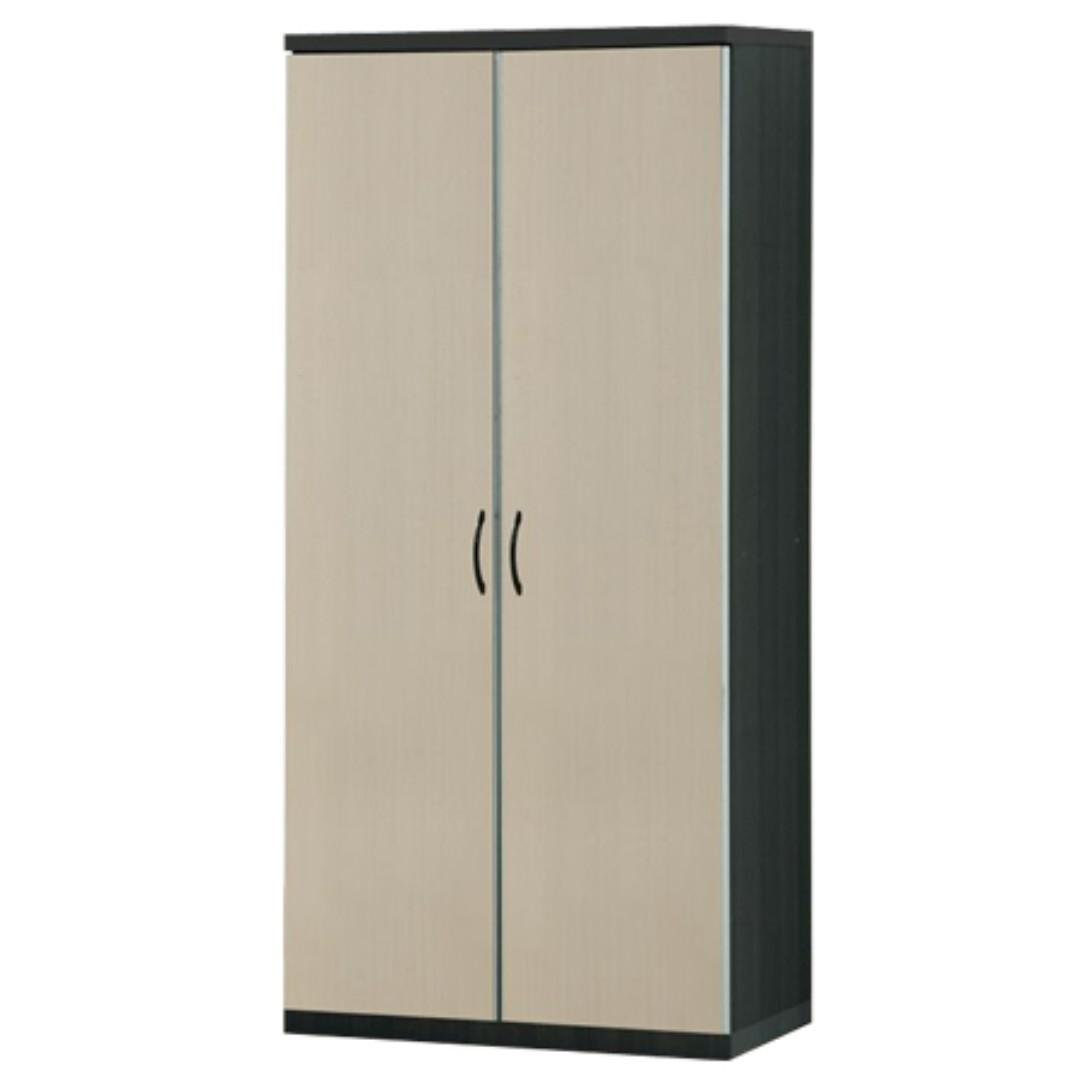Longlife 260bw 2 Doors Wardrobe Cabinet Bedroom Cabinet Malaysian Wood Home Furniture Home Furniture Furniture Fixtures Shelves Drawers On Carousell