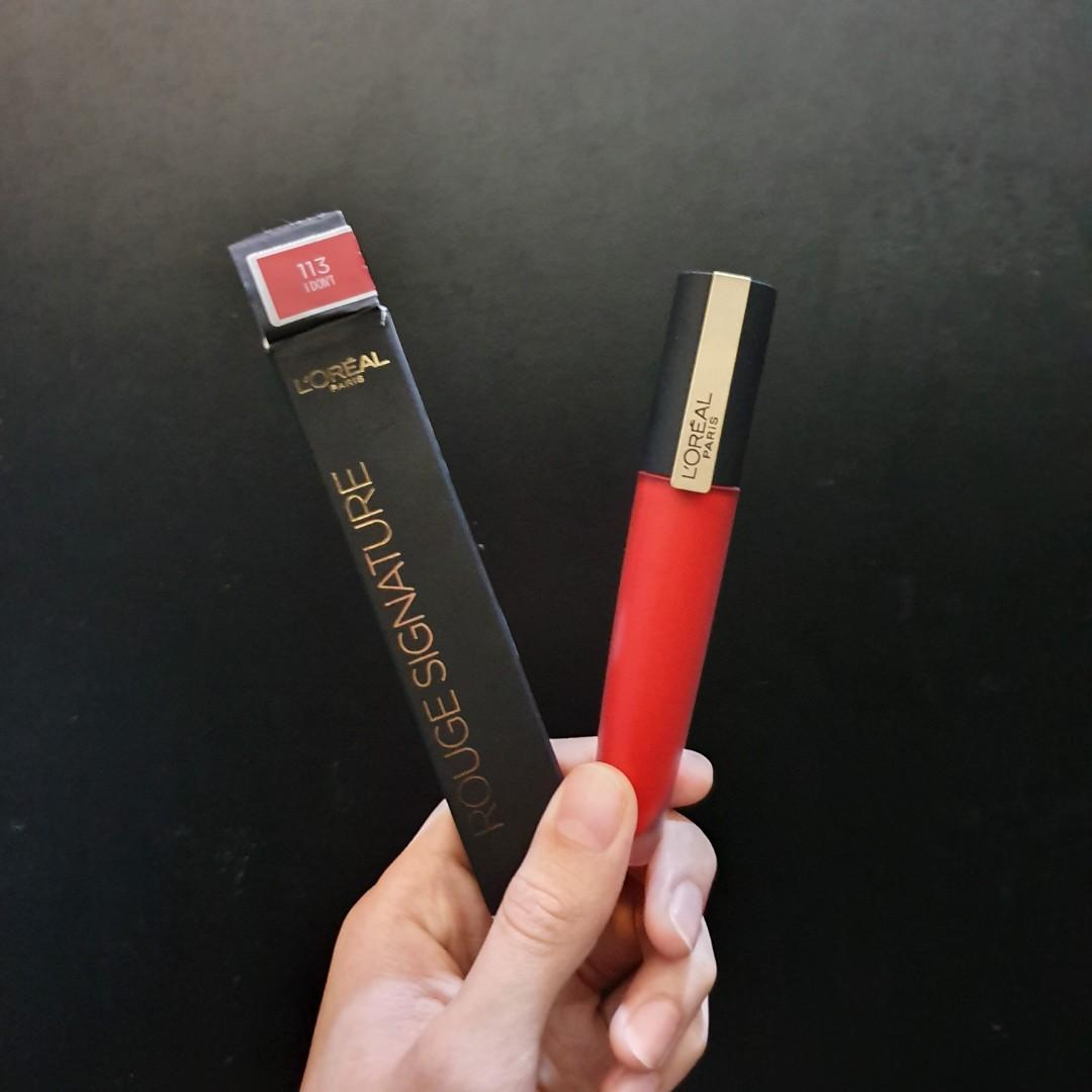 L'oreal Rouge Signature Lip Tint (113 I Don't)