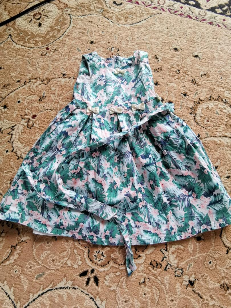 Lovely Lace Cotton Dress  3yrs