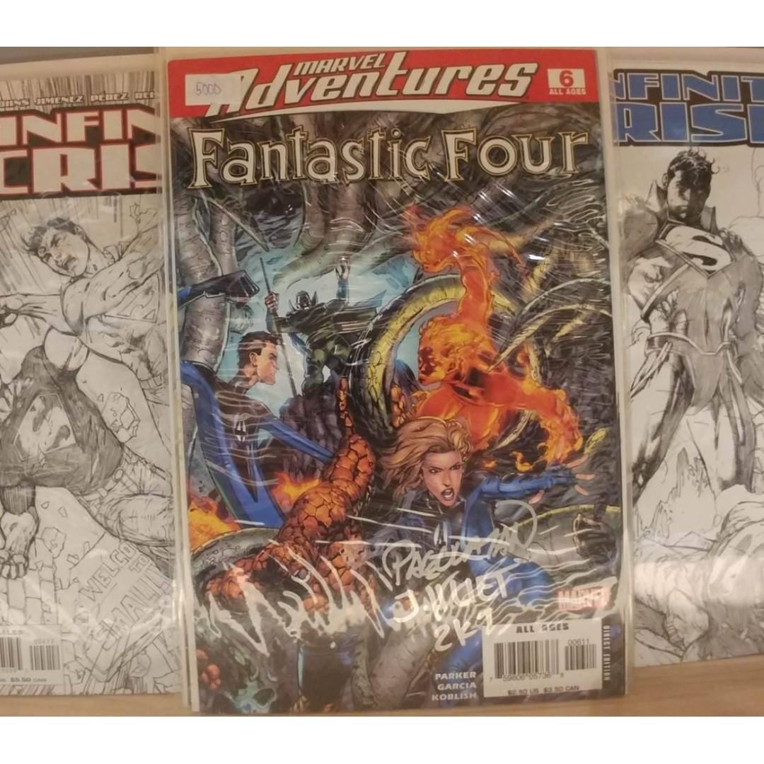 M.A.Fantastic Four (2005) # 6 CARLO PAGULAYAN JEFF HUET Signature WITH FREE 3(THREE) COMIC BOOK