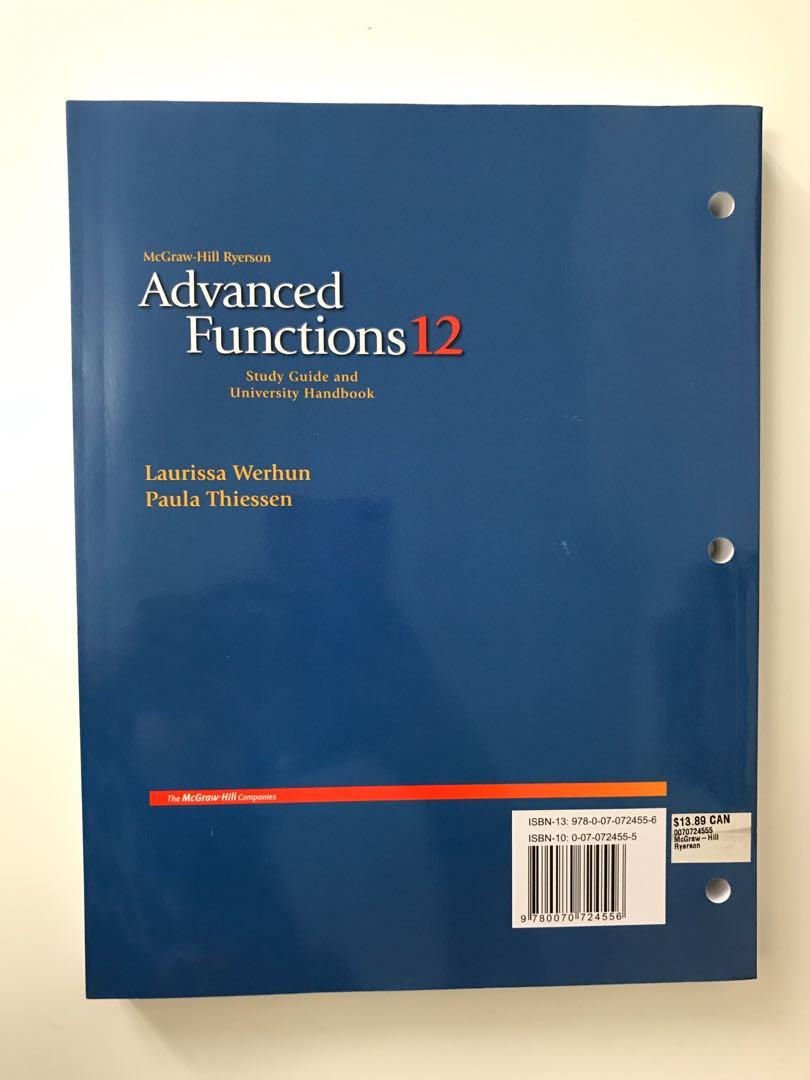 McGraw-Hill Ryerson - Avanced Functions 12 - Study Guide and University Handbook