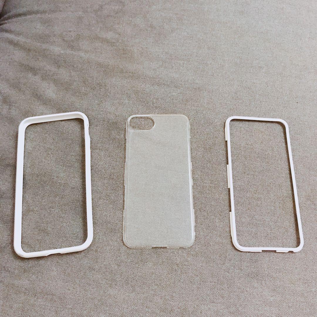 犀牛盾Mod邊框背蓋兩用手機殼i7/i8📱白色