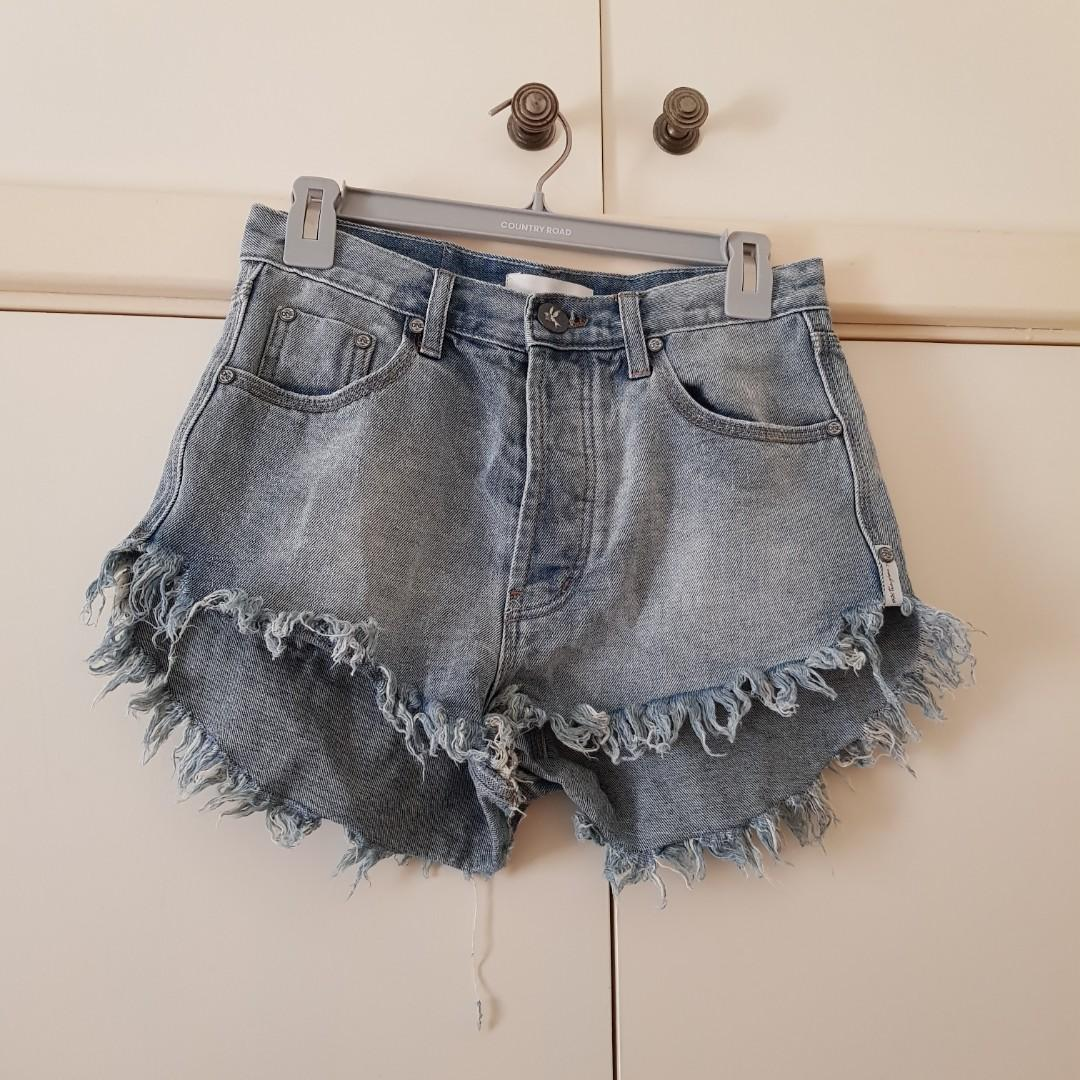 One by One Teaspoon Outlaws Denim Shorts Size 24 (low-waisted, fits size 8 better)