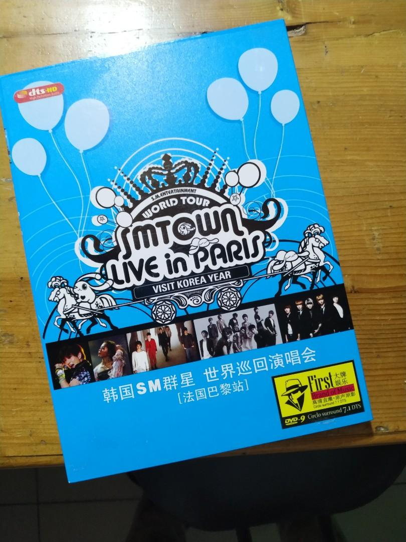 ORIGINAL ALBUM SMTOWN Live In Paris (Free Merchandise SJ / EXO / GG)