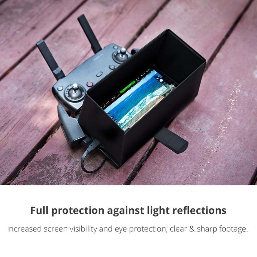 PGYTECH Monitor Hood - Full-Screen Cell Phone Lens Hood Sunshade for DJI Mavic 2 Pro Mavic 2 Zoom Air Spark