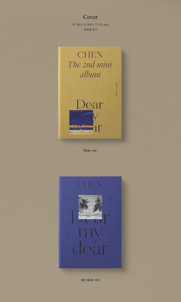 [Pre-order] CHEN 첸 (2ND MINI ALBUM 미니앨범) - DEAR MY DEAR 사랑하는 그대에게 (DEAR ver.    MY DEAR ver.)