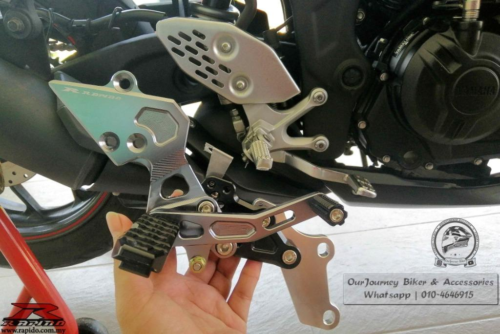 Rapido Single Racing Footrest | Yamaha R25 | Z250 | Ninja 250 | 100% Original