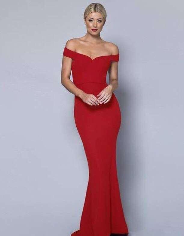 'RED MERMAID OFF-THE-SHOULDER' dress from L'AMOUR - RENT